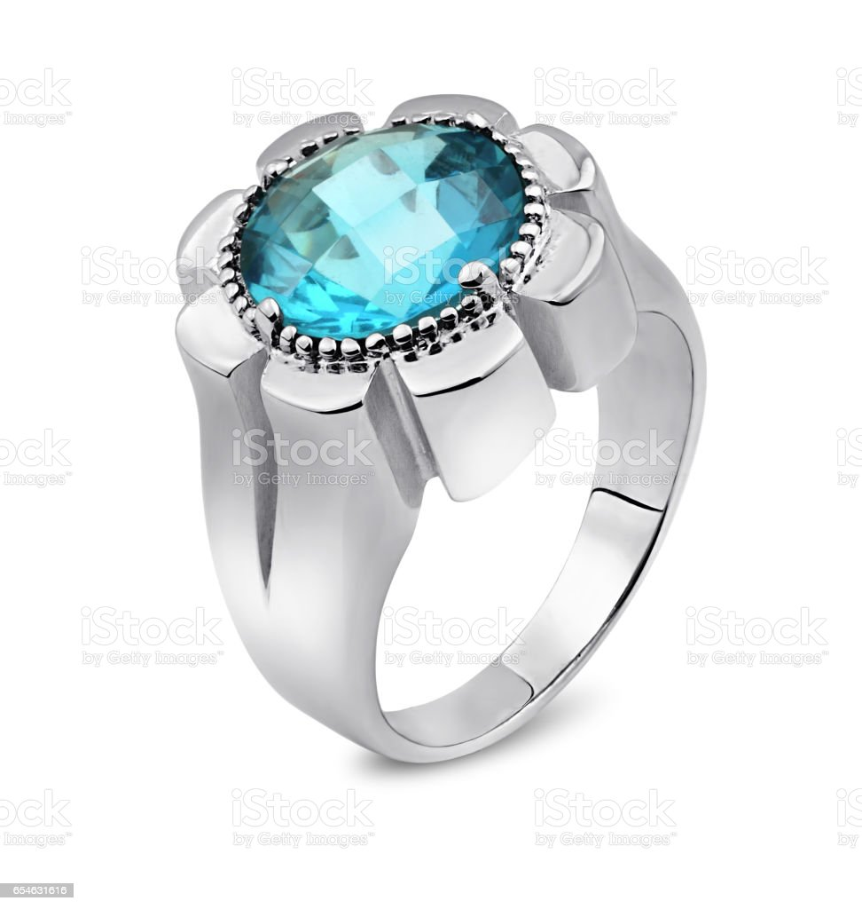 Jewellery ring isolated on a white background stock photo