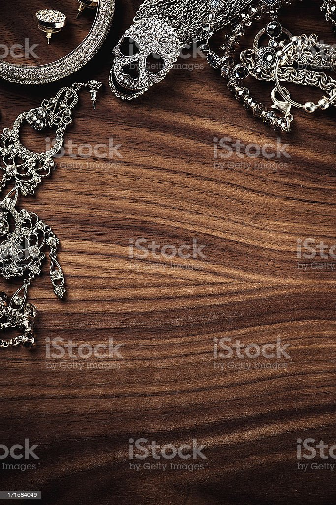 Jewelry background royalty-free stock photo