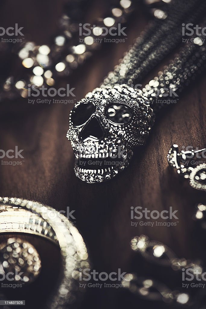 Jewelry background royalty-free stock photo