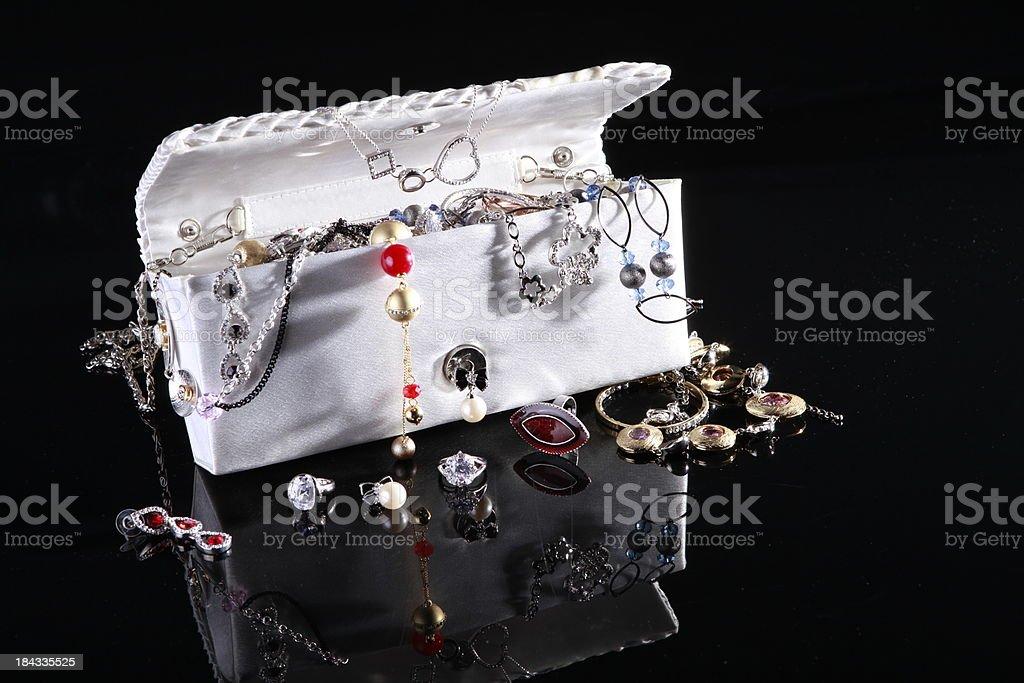 jewelry  bag stock photo