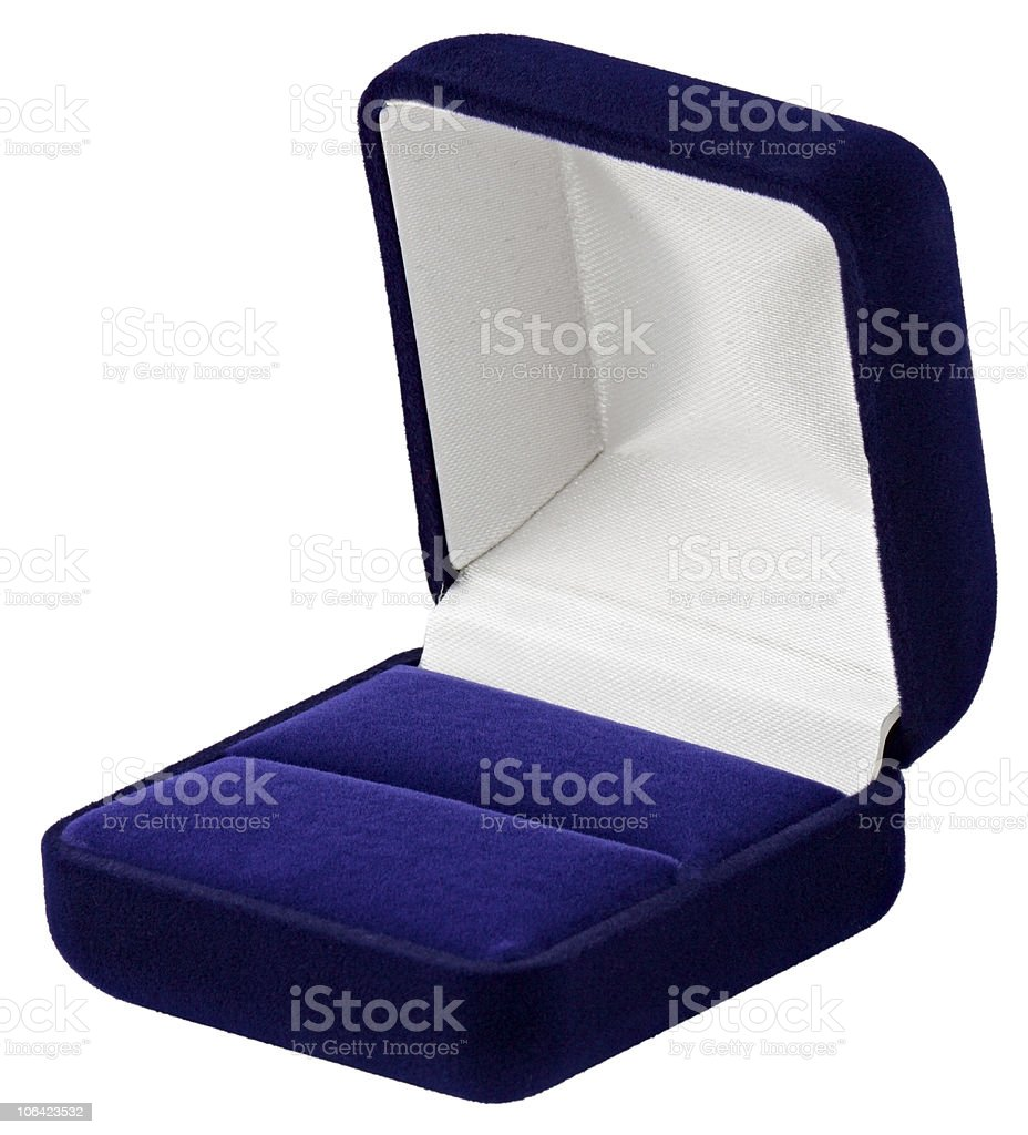 Jewelry Box isolated on white background stock photo