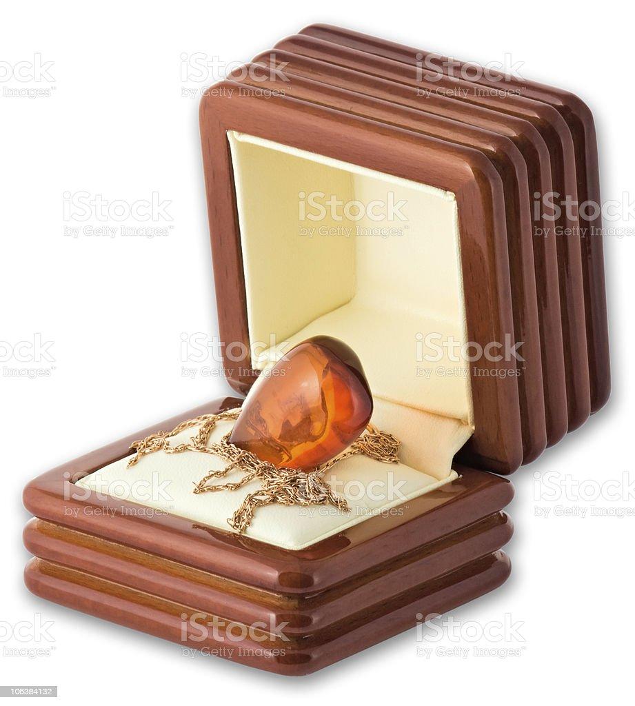 Jewelry Box on white background royalty-free stock photo