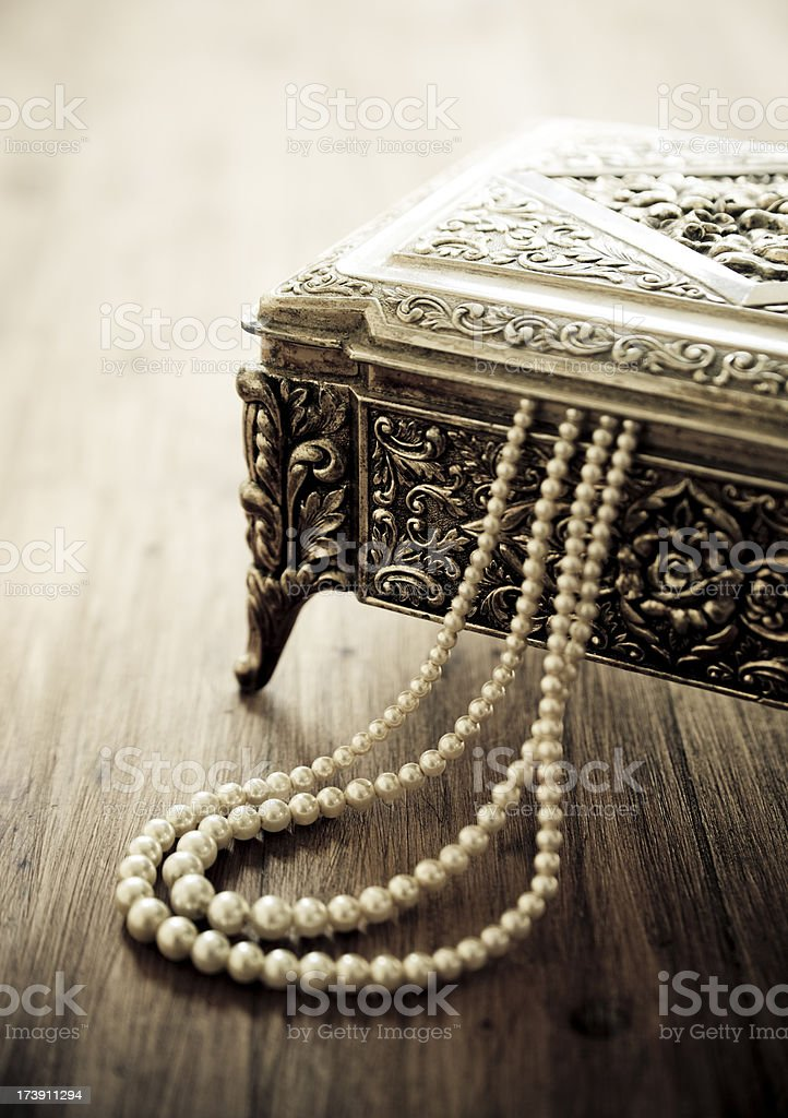 Jewelry box stock photo