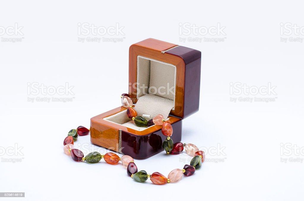Jewelry box with bracelet royalty-free stock photo