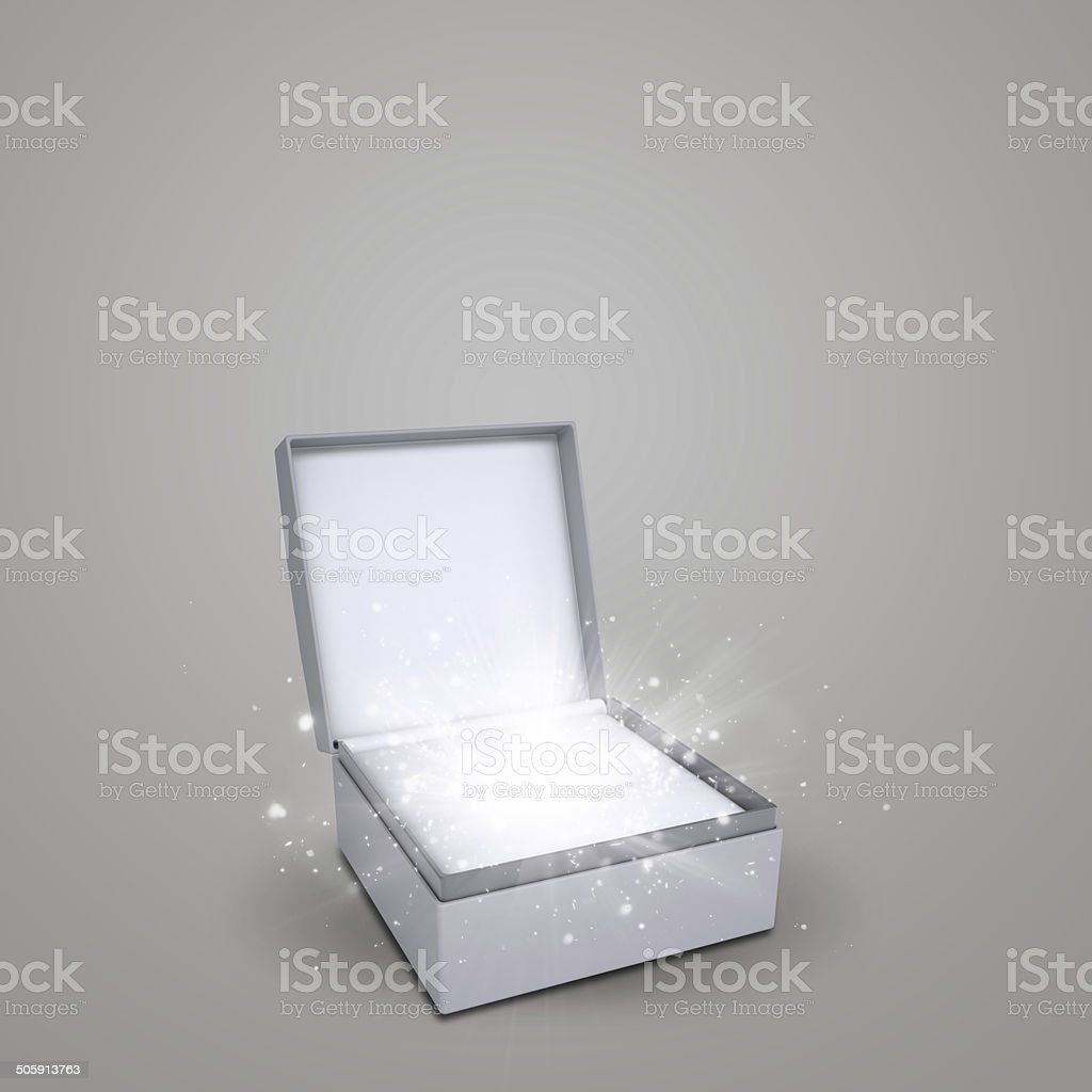 Jewelry box with magical stars stock photo