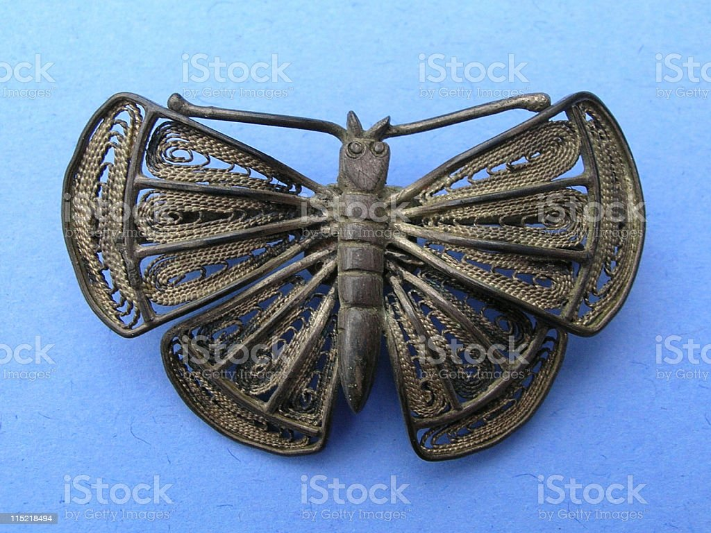 Jewelry: Butterfly brooch royalty-free stock photo