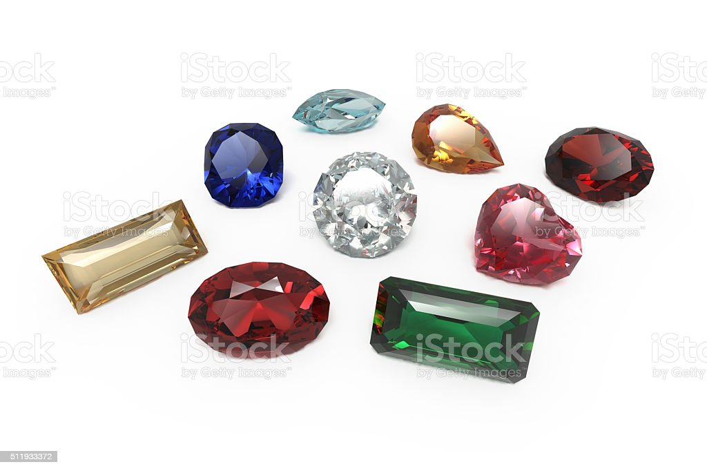 Jewelry - Collection of Jewels stock photo