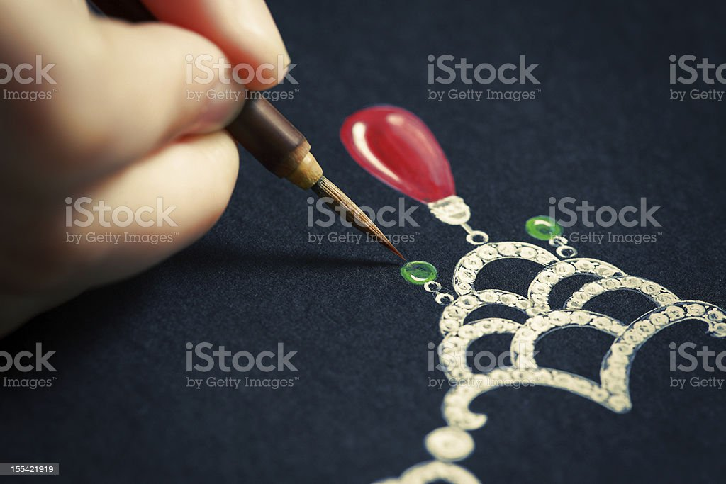 Jewelry design royalty-free stock photo