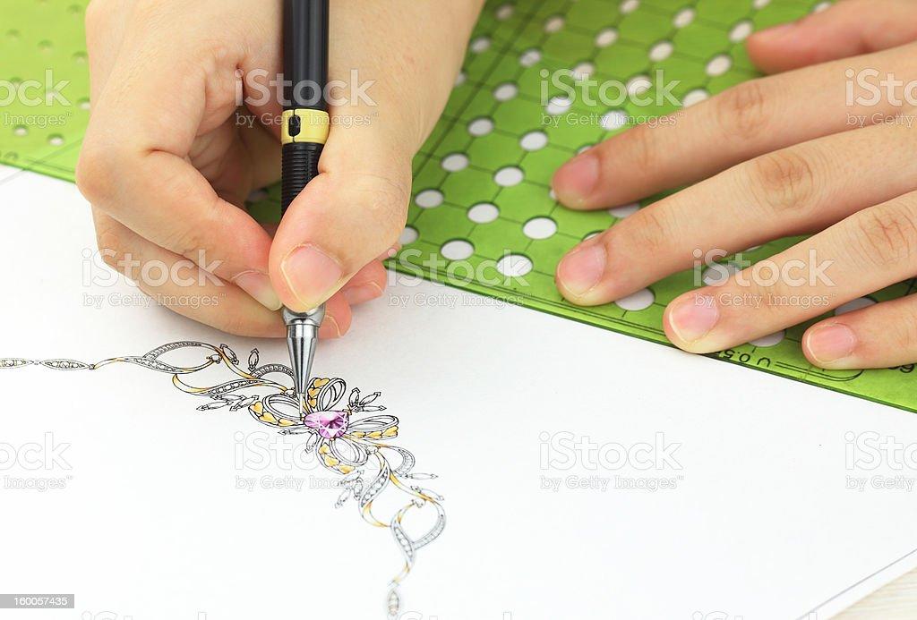 Jewelry design royalty-free stock photo