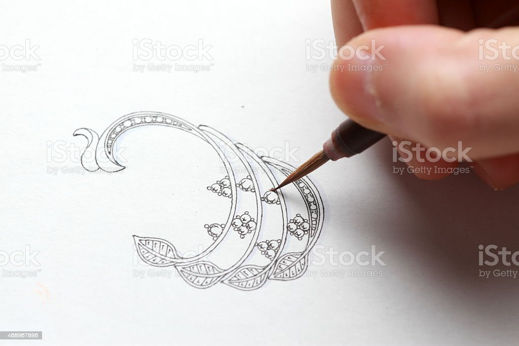 Jewelry design stock photo