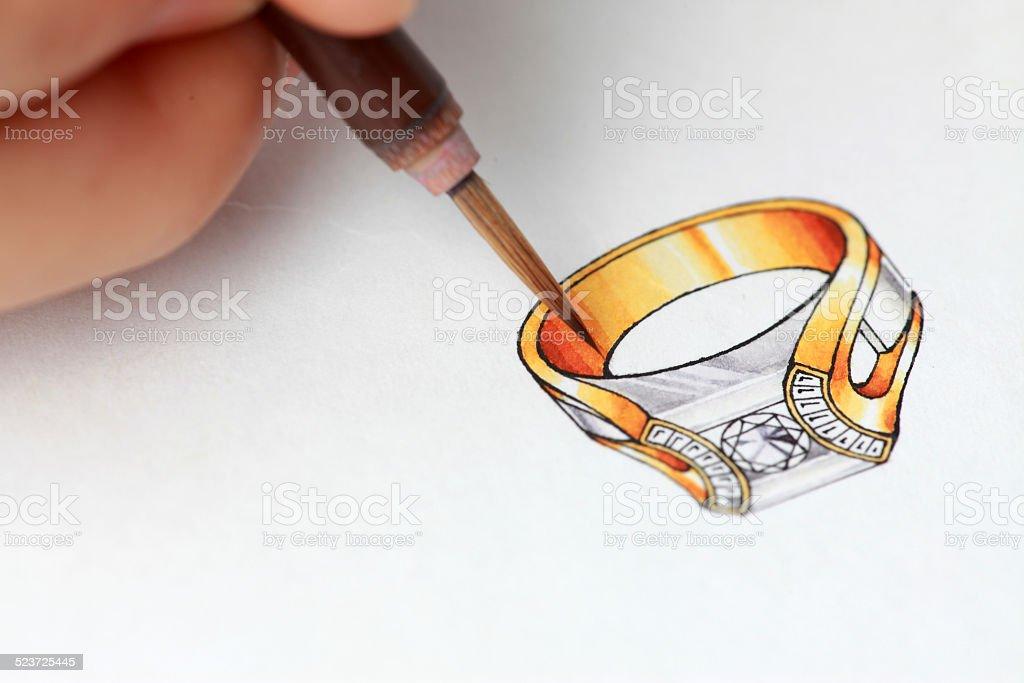 Jewelry design stock photo