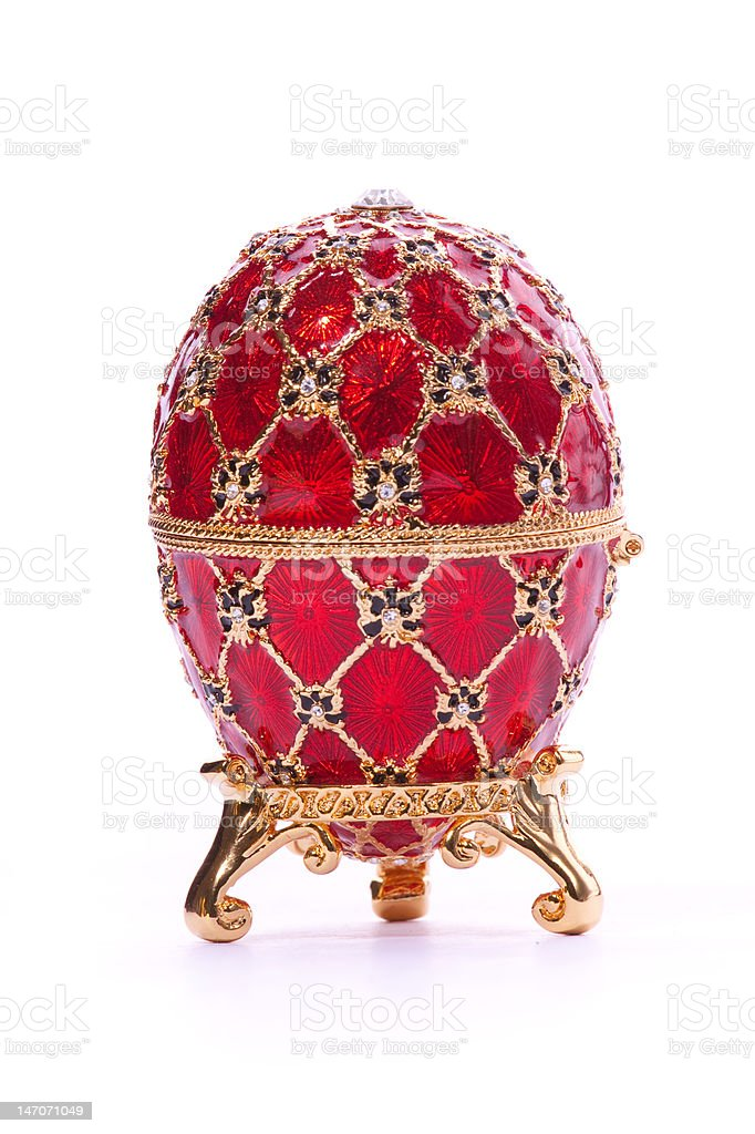 Jewelry egg. stock photo