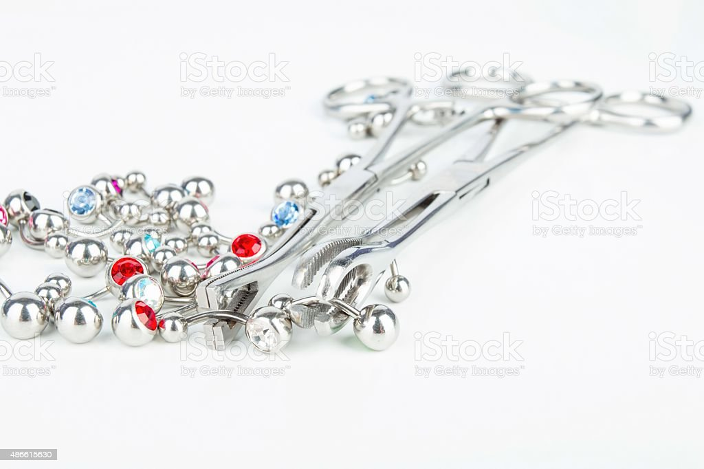 Jewelry for piercing. stock photo