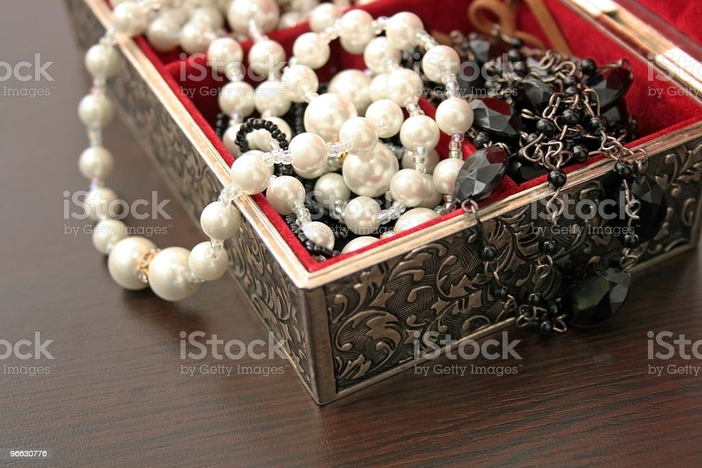 Jewelry in a box royalty-free stock photo