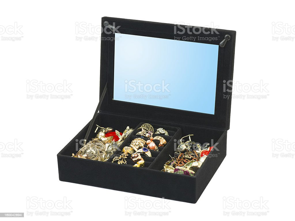Jewelry in box royalty-free stock photo