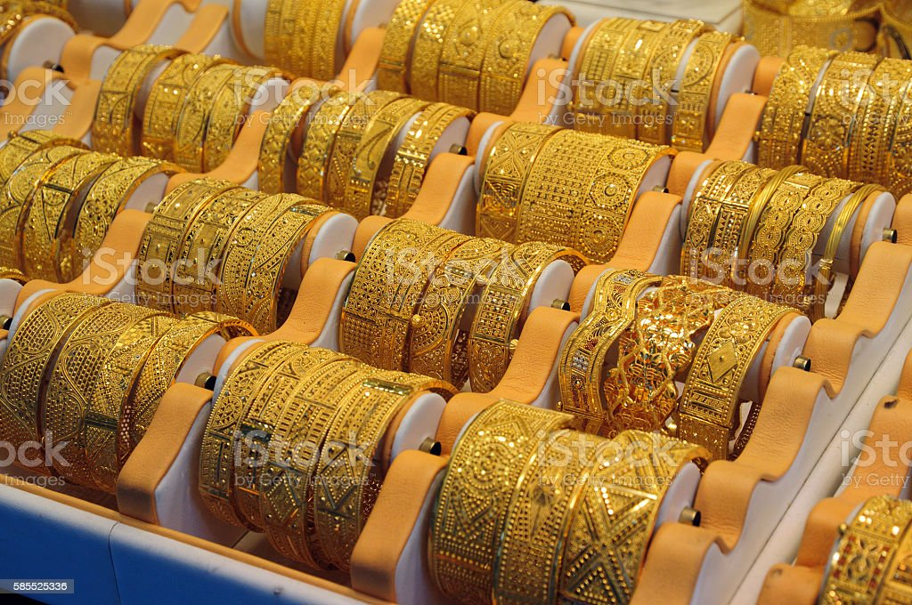 Jewelry in Dubai stock photo