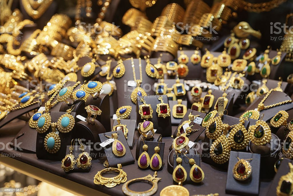 Jewelry market in Istanbul royalty-free stock photo