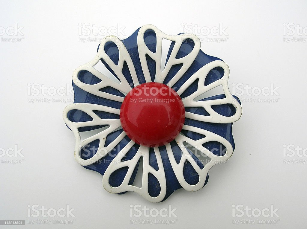Jewelry: Mod 60s brooch. royalty-free stock photo