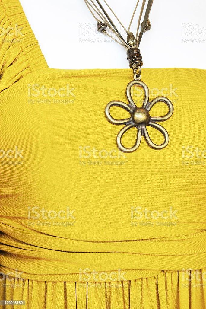 Jewelry Pendant Necklace Dress Fashion royalty-free stock photo