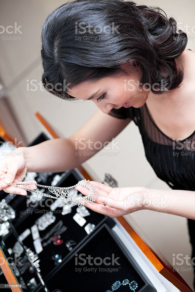 Jewelry shopping stock photo