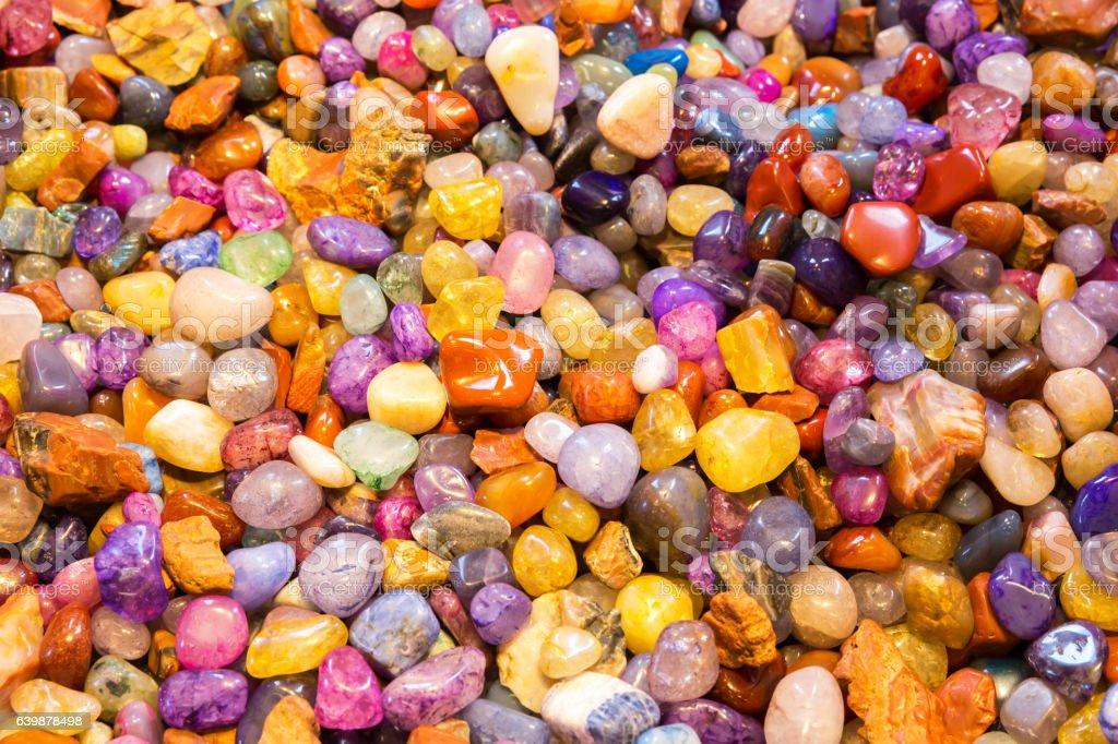 Jewelry stones are the favorite tourist souvenirs. stock photo