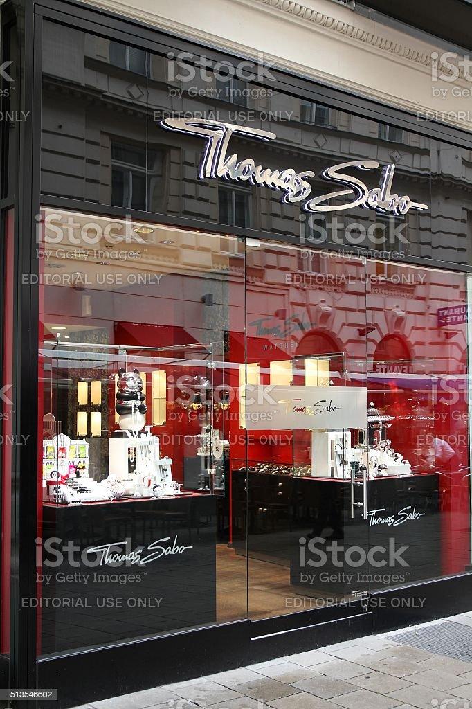 Jewelry store in Vienna stock photo