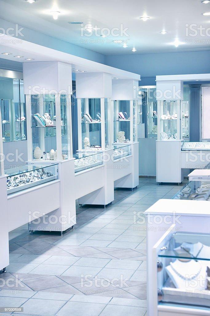 Jewelry store stock photo