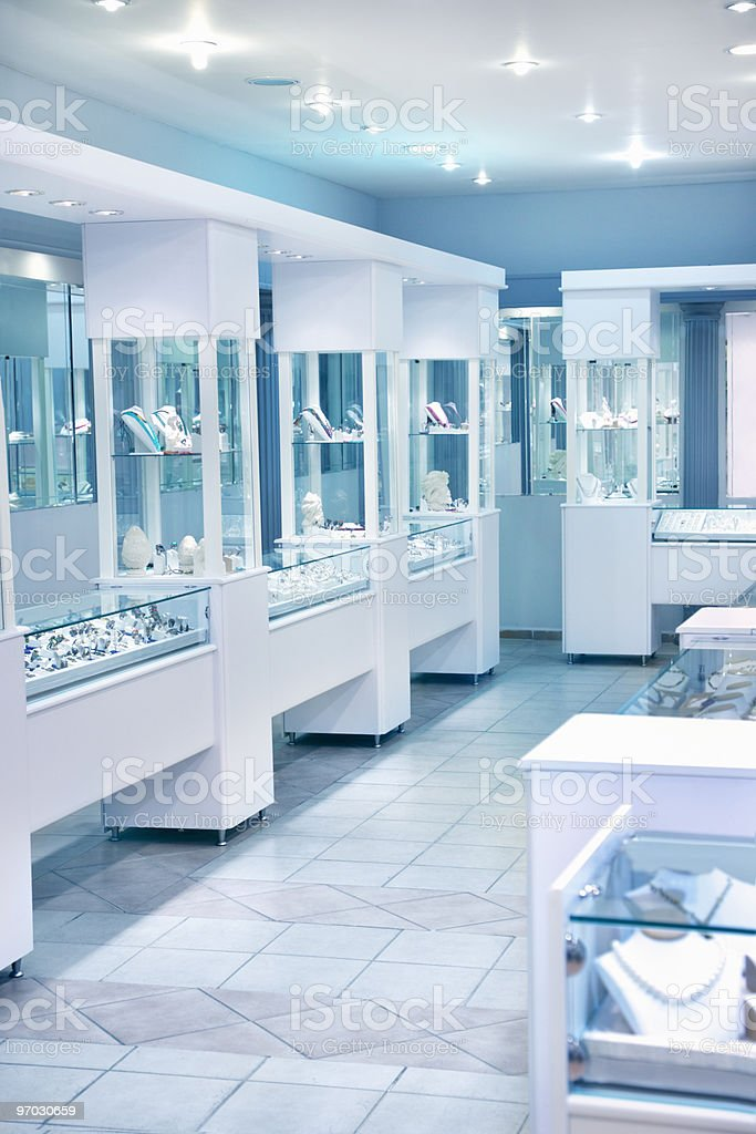 Jewelry store stock photo