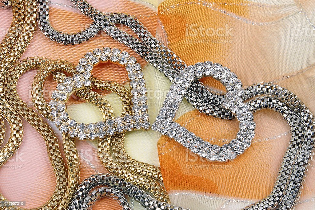 Jewelry with heart royalty-free stock photo