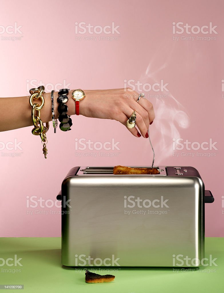jewels on a hand stock photo