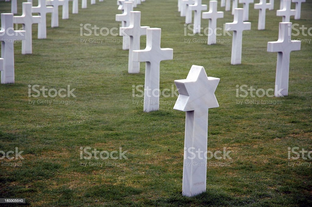Jewish & Christian Graves in Normandy royalty-free stock photo