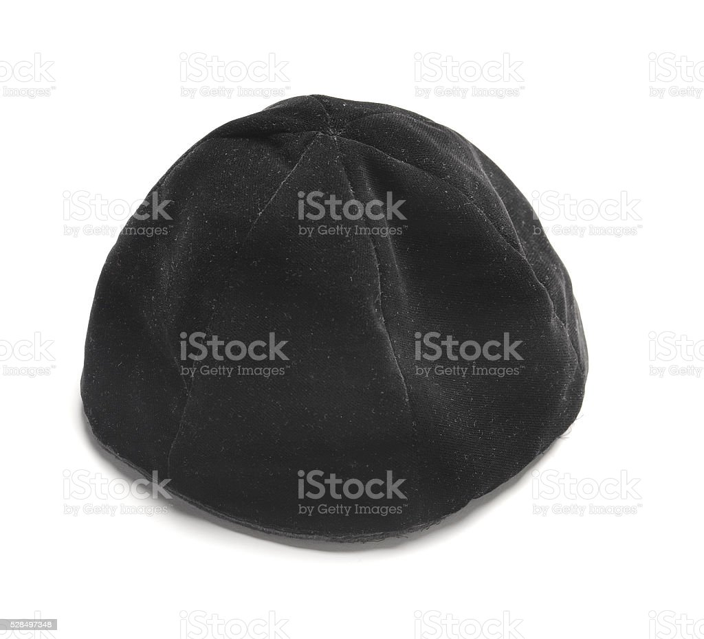 Jewish black hat stock photo