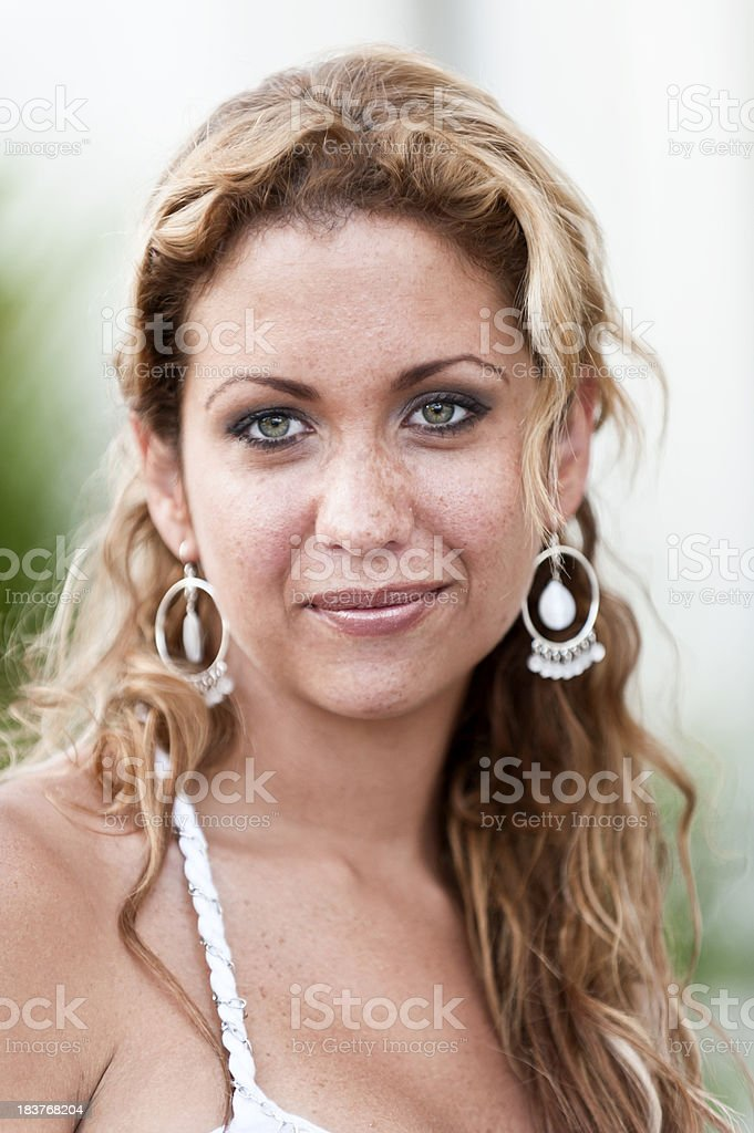 Jewish blond woman stock photo