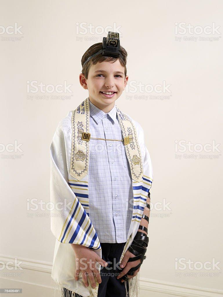 Jewish boy stock photo