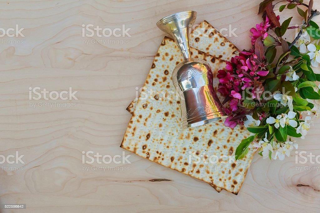 Jewish bred matza stock photo
