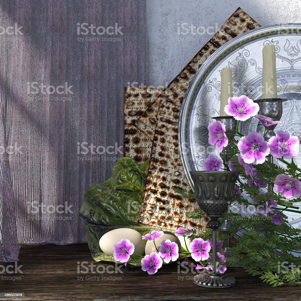 Jewish celebrate passover holiday background royalty-free stock photo