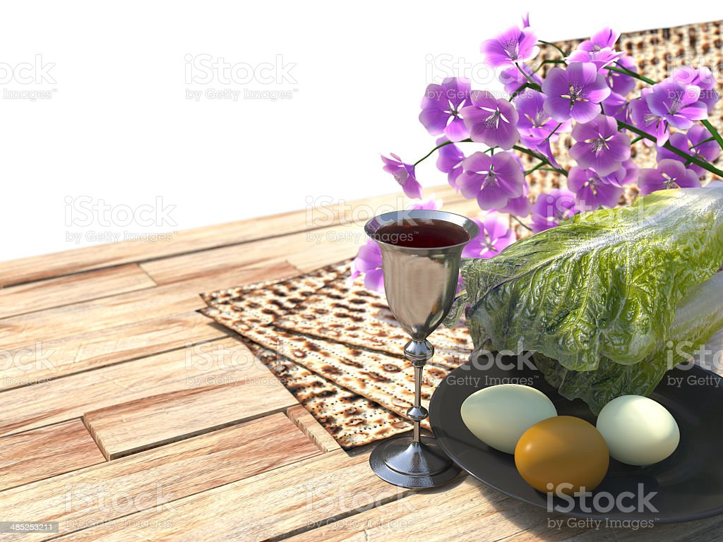 Jewish celebrate pesach passover white background royalty-free stock photo