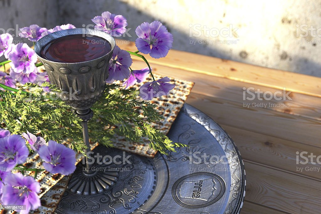 Jewish celebrate pesah passover holiday background stock photo