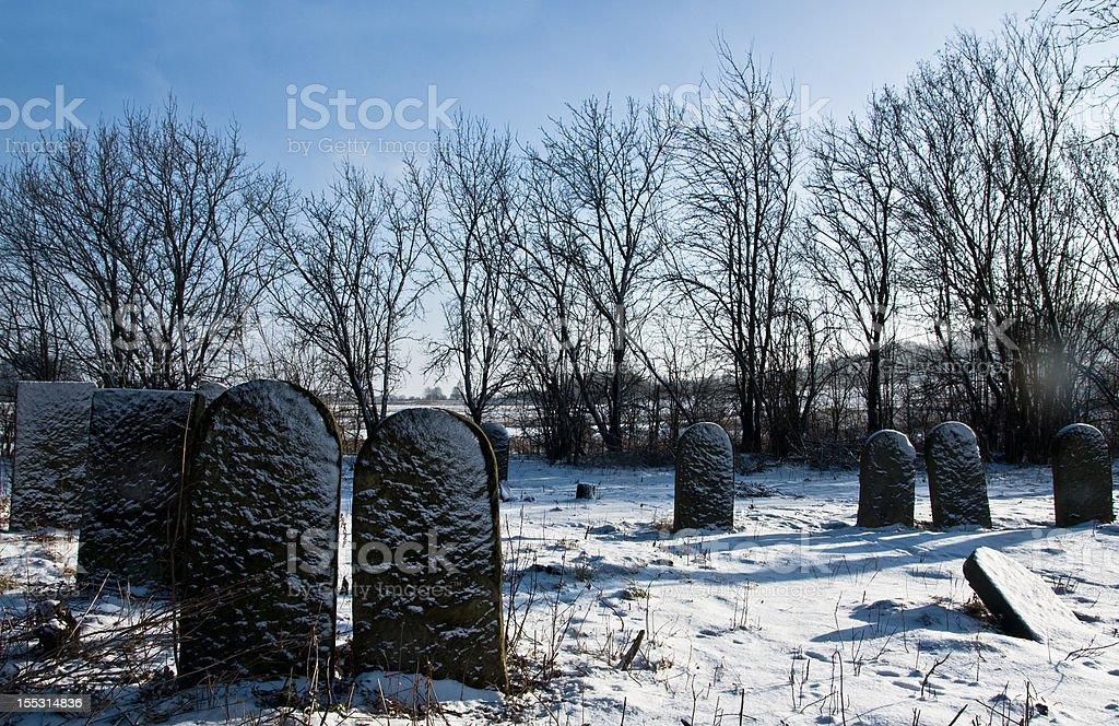 Jüdischer Friedhof Lizenzfreies stock-foto