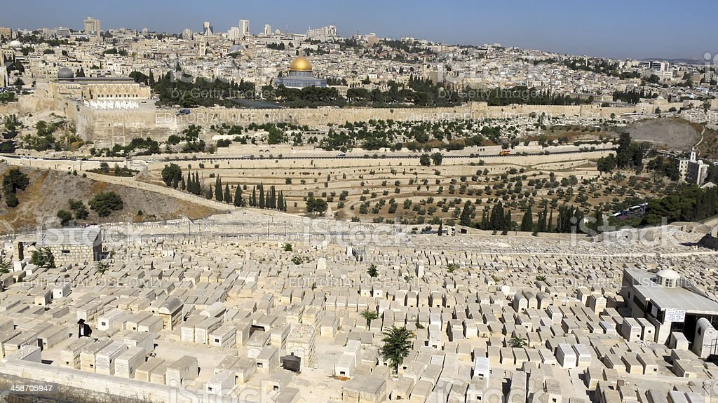 Jewish Cemetery In Jerusalem royalty-free stock photo