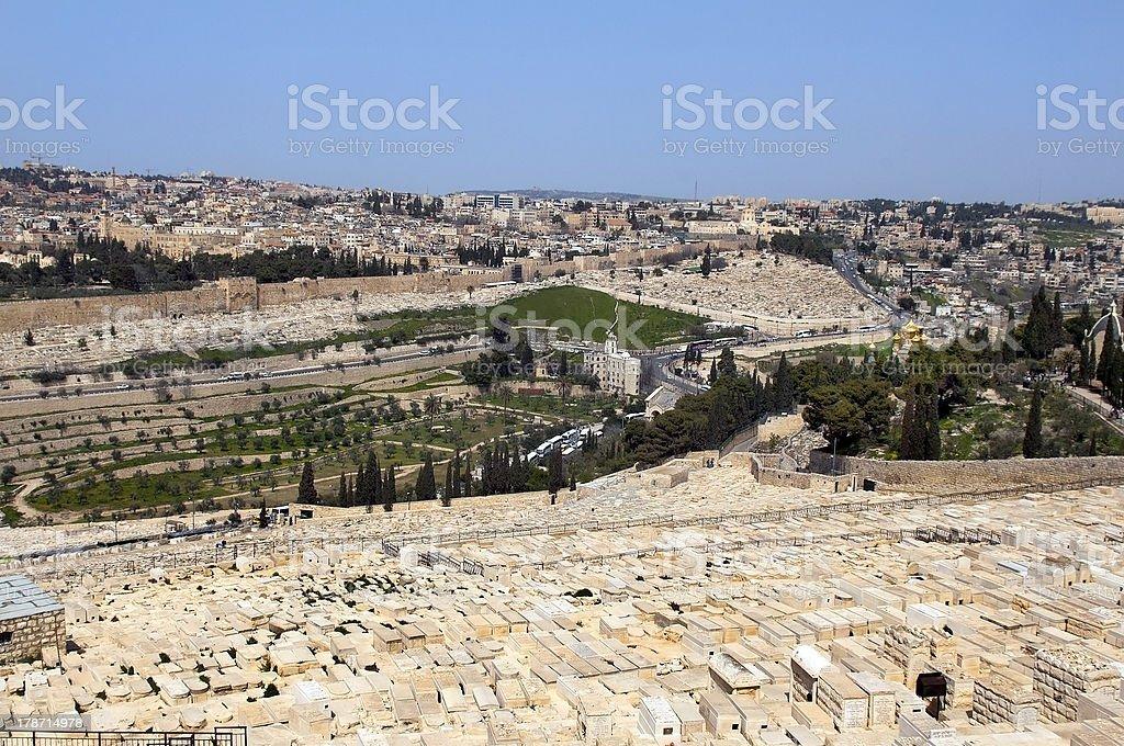 Jewish cemetery .Jerusalem royalty-free stock photo