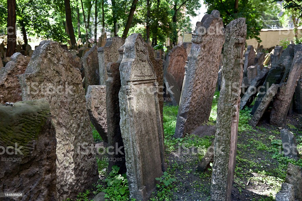 jewish cemetry in Prague. royalty-free stock photo