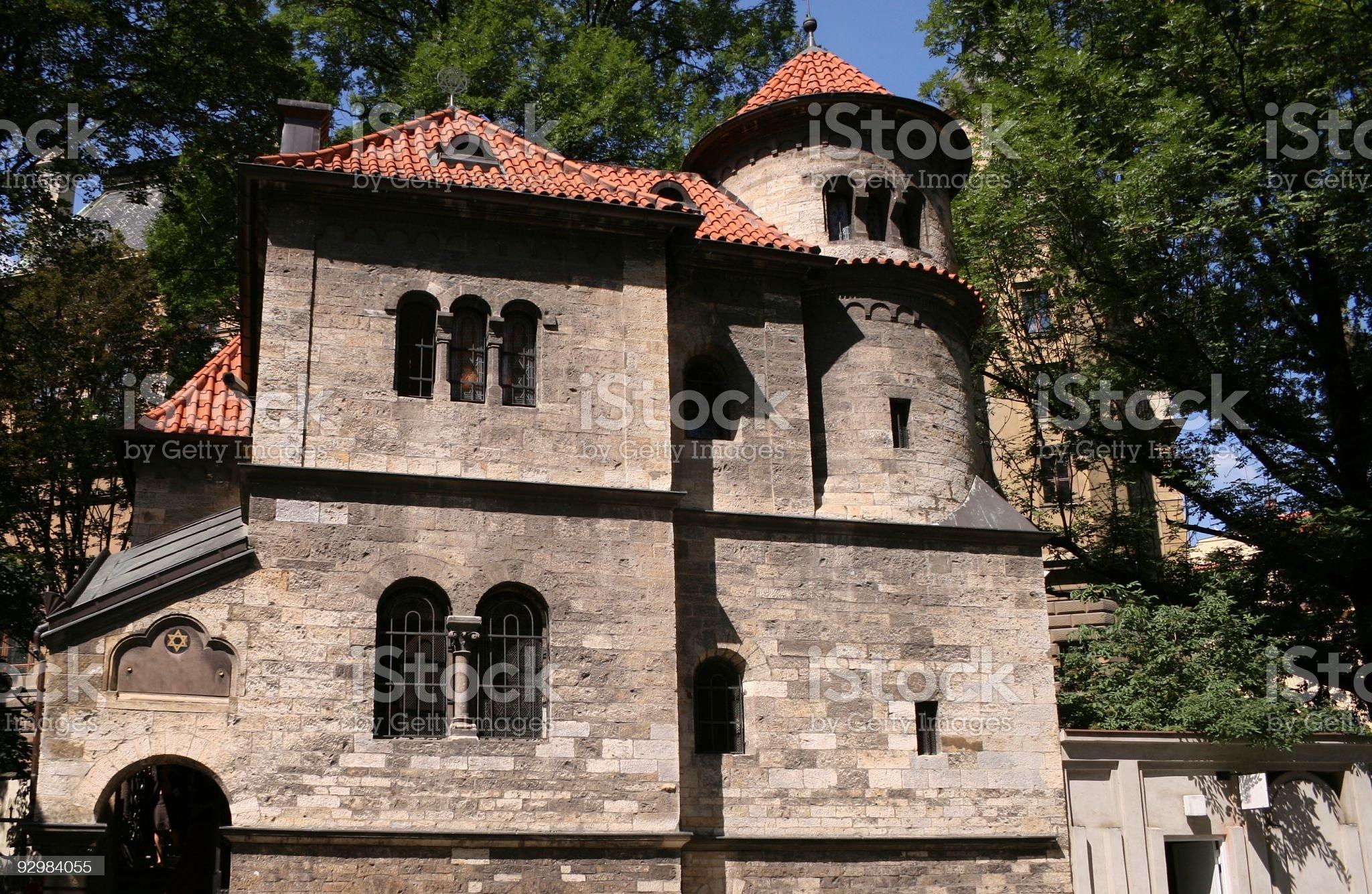 Jewish Ceremonial Hall in Prague royalty-free stock photo