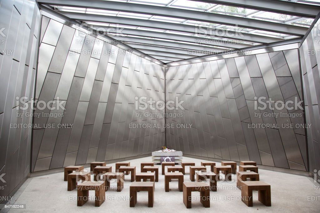 Jewish Chapel Bergen-Belsen stock photo