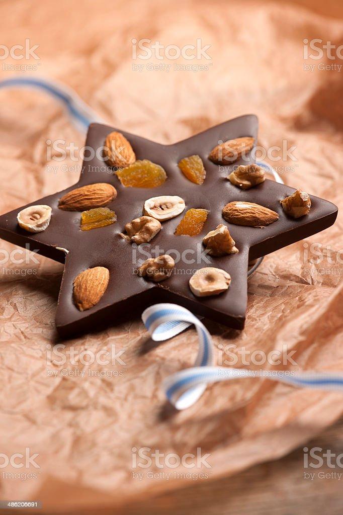 Jewish chocolate candy. stock photo