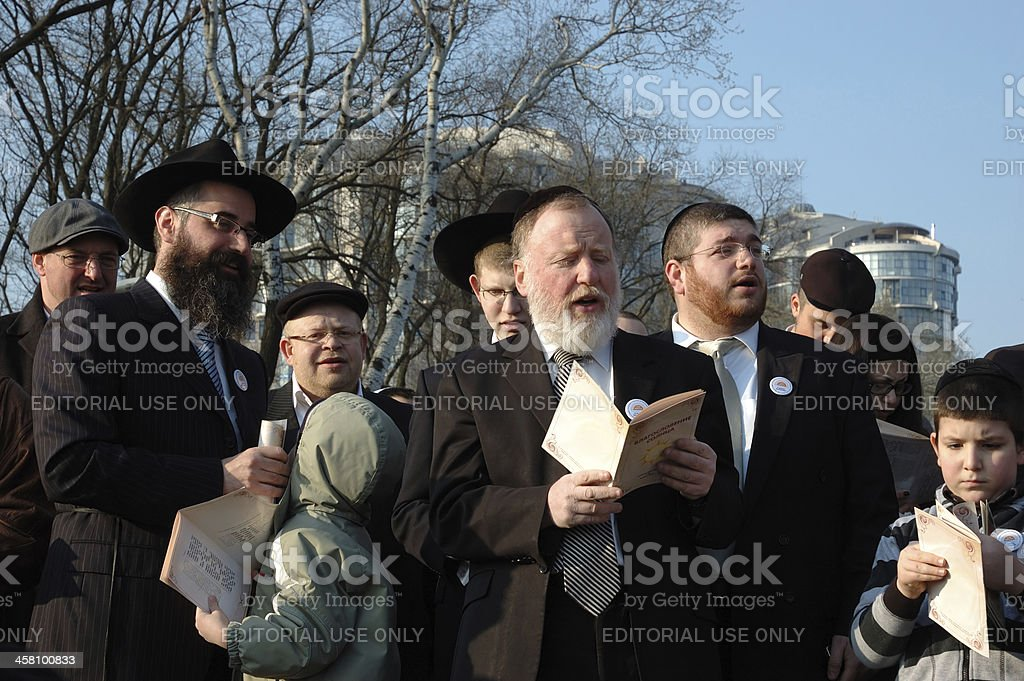 Jewish community read Torah and make sun blessing,Odessa,ukraine royalty-free stock photo