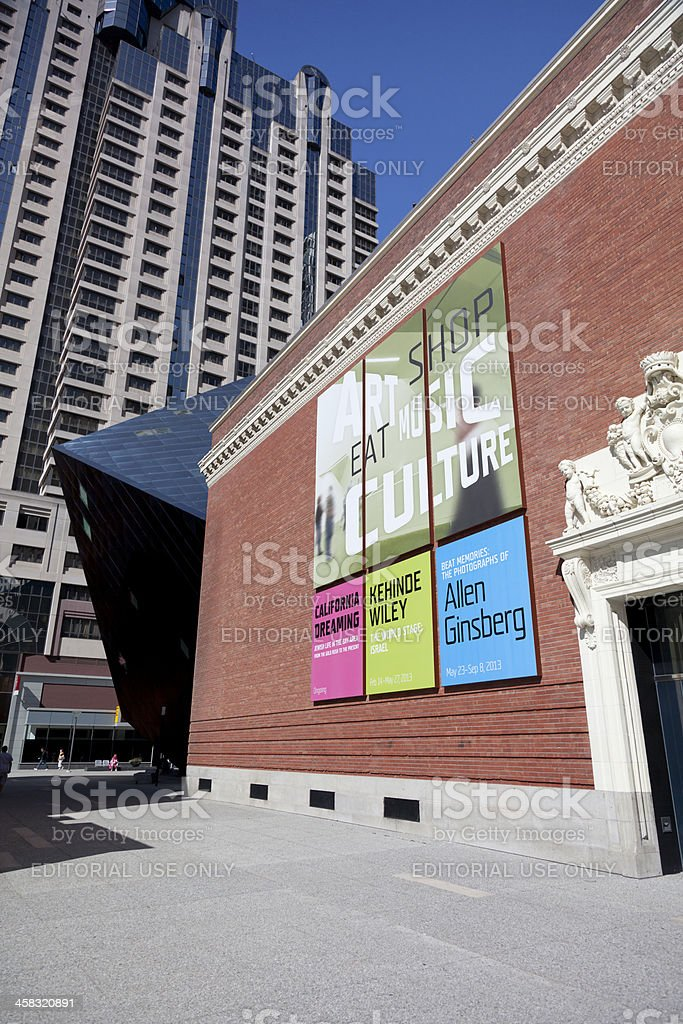 Jewish Contemprary Museum in San Francisco royalty-free stock photo