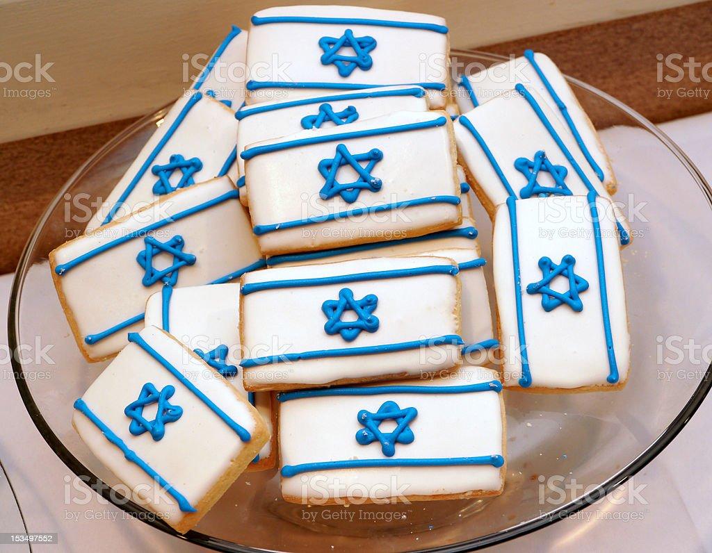 Jewish cookies stock photo