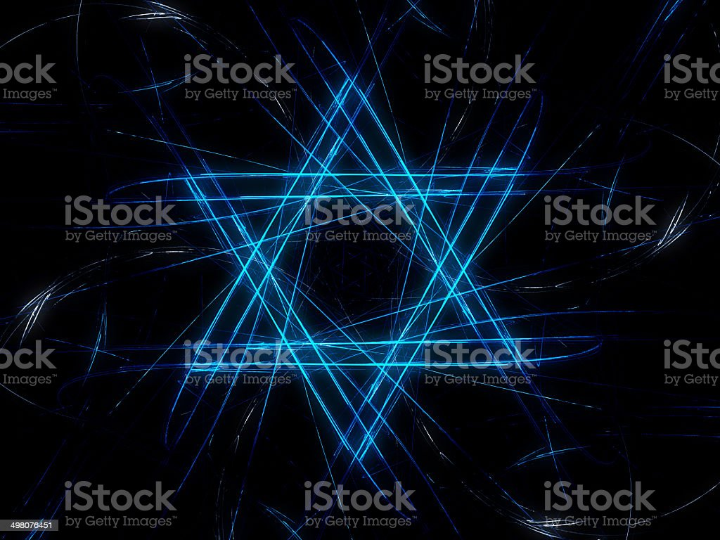Jewish David star design royalty-free stock vector art