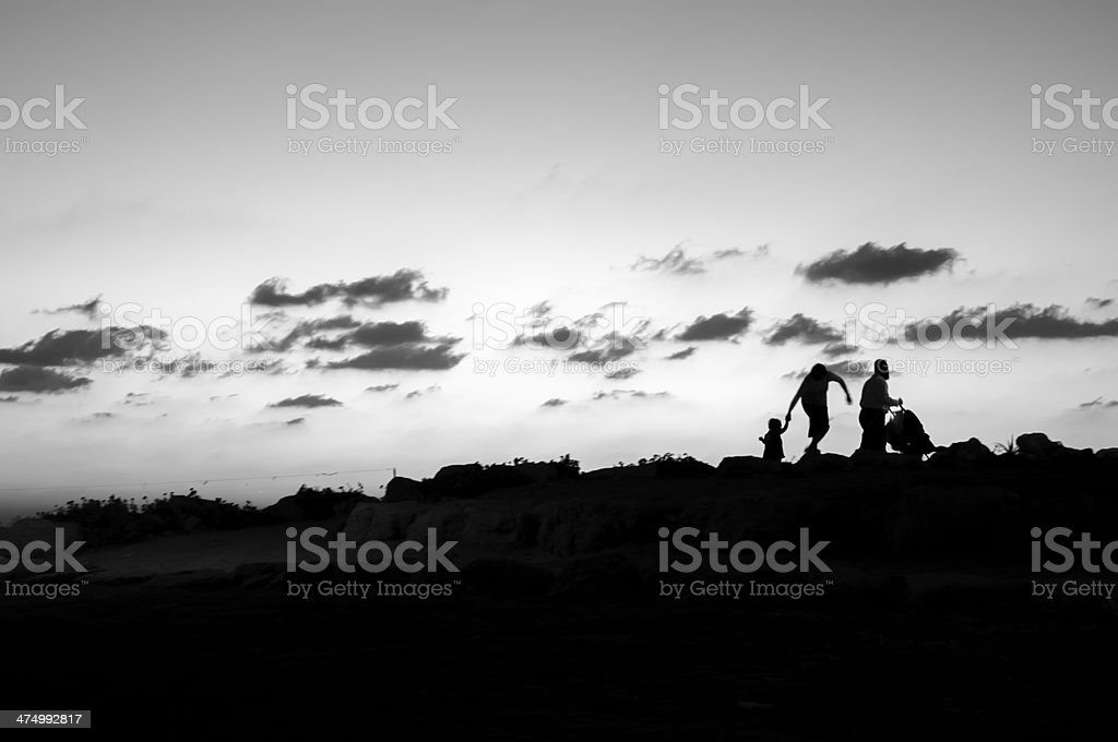 Jewish family in Israel stock photo